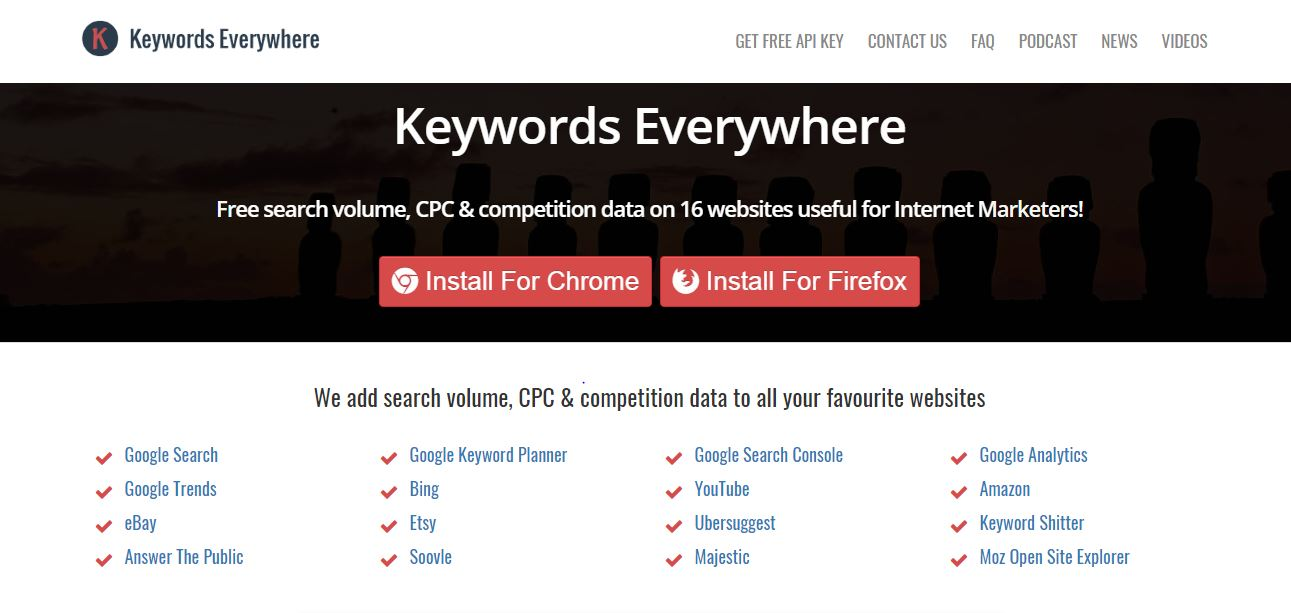 keywords everywhere- search engine optimization tool